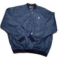 Vintage 70s 80s Starter Mens XL Detroit Tigers Pullover Windbreaker Usa Made Zip