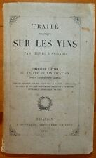 MACHARD: Traité pratique sur les vins - 5° éd du traité de vinification / 1874