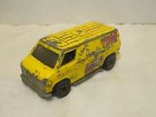 Vintage Hot Wheels THOR The Heros Yellow Delivery Van Hong Kong 1974 Die-Cast