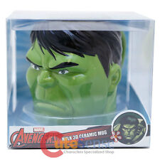 Marvel Avengers Hulk Face Molded Ceramic Mug in Box Coffee Collectible Cup