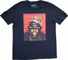 Mens The Notorious B.I.G. Biggie Trust Nobody Black Vintage Rapper T-Shirt Tee