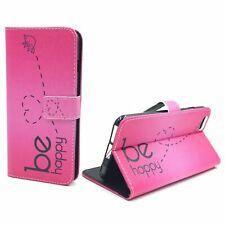 Schutz Hülle für Apple iPhone 6 / 6s Plus Be Happy Pink Tasche + 1 Panzer Schutz