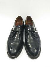 Allen Edmonds Cornell Black Split Toe Buckle Monk Loafer Sole Dress Shoes 11 C
