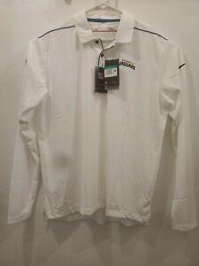 Jacksonville Jaguars Nike Dri-Fit White Long Sleeve Polo AO3684-100 XL