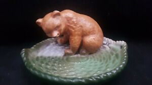 """MINT VICTORIAN GERMAN LIKE PIG FAIRING BUT MORE RARE """"BEAR ON A BASKET TRAY"""""""
