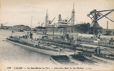Shipping France CALAIS Submarine Boats in the harbour Louis Levy (LL) PPC