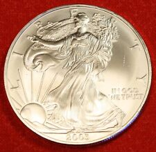 2003 AMERICAN SILVER EAGLE DOLLAR 1 oz .999% BU GREAT COLLECTOR COIN GIFT