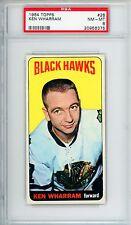 1964-65 Topps #28 Ken Wharram PSA 8 NM-MT Chicago Black Hawks