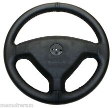 WHEEL COVERS FULL IN LEATHER REAL BLACK FOR OPEL ASTRA G