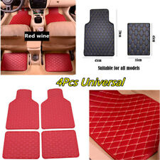 Car Floor Carpet Mats PU Leather Waterproof Non-slip Protection Pad Accessories