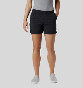 $49 Columbia Women's Black PFG Backcast Pull-On Mid-Rise Water Shorts Size XL