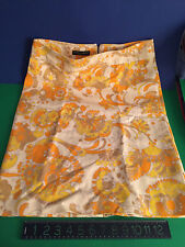 YELLOW/ORANG Fine textured Cotton Dolce & Gabbana Skirt size 44 New without tags