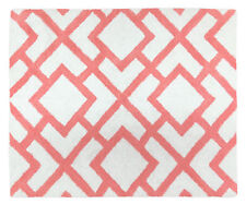 Baby Kid Floor Rug For Sweet Jojo Design Modern Coral White Diamond Bedding Set