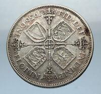 1936 Great Britain UK United Kingdom Big SILVER FLORIN Coin King George V i66839