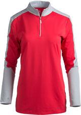 Bette & Court Ladies Longsleeve Eclipse Colorblocked Pullover Crimson Large