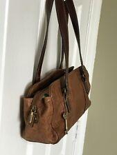 FOSSIL Brown Tooled Embossed Leather MD Shoulder Bag ZB7067  Vintage RARE!!