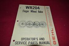 Gehl WR 204 Wheel Rake Operator's Manual BVPA