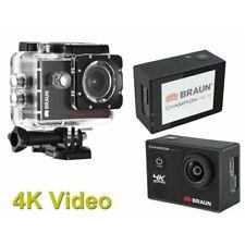Braun Deportes Cámara Wifi Hd 4K video 20MP con pantalla táctil Cam Acción Casco Cámara