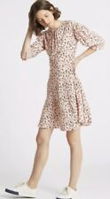 Animal Print M&S Limited Edition Half Sleeve Tea Dress NEW Size 14