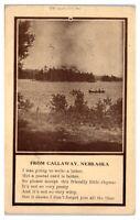 From Callaway, Nebraska Postcard