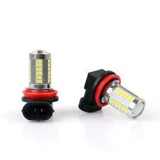 H8 33SMD LED 6000K Headlight Super White Car Fog Lamp Globe Bulb Xenon HID