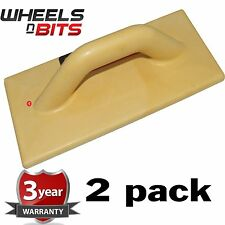 2 Pack Polyurethane Plastering Lightweight Float Large Easy Grip 350mm x 150mm