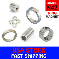 Super Strong N42 Ring Disc Column Neodymium Mini Fridge Magnets Rare Earth