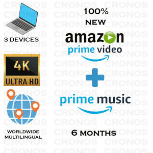 |6 MONTHS|AMAZON PRIME VIDEO + PRIME MUSIC| WORLDWIDE | FAST DELIVERY |