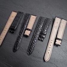 OMEGA 15mm 14mm véritable crocodile alligator 31 Suisse bracelet montre NOS cuir