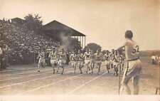 Sports Track and Field Running Race Real Photo Antique Postcard J63926