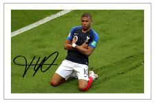 KYLIAN MBAPPE FRANCE WORLD CUP 2018 SOCCER SIGNED AUTOGRAPH PHOTO PRINT