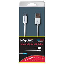 Infapower USB 2.0 A MICRO USB Cable 1Metro Blanco para Samsung Sony HTC (p009)