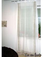 boucle de rideau Maharani blanc or transparent 251x116 Neuf Un Zarter rêve