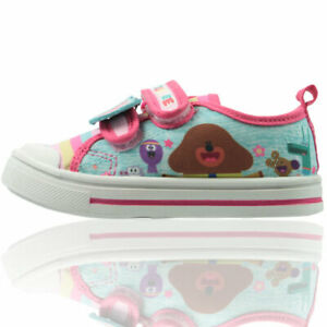Hey Duggee Girls Low Top Canvas Pump Shoes Easy Fasten Cbeebies