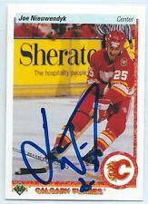 HOF Joe Nieuwendyk signed 1990-91 Upper Deck card Calgary Flames autograph