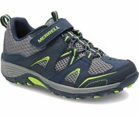 MERRELL Big Kid's Trail Chaser Shoe 6.5 IN LONG-WIDE-NAVY-GREEN