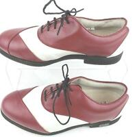 Footjoy Red White Cleat Golf Shoes Women Size 8M.