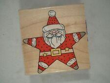 Star-Shaped Santa Wood Mounted Rubber Stamp, Hero Arts, F842, Christmas, Holiday