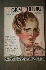 vtg old PHYSICAL CULTURE Magazine fitness exercise body building fashion 1931 ja