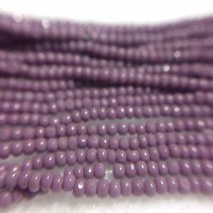 13/0 Light Purple Opague Czech Glass Seed Bead Charlotte Preciosa True Cut