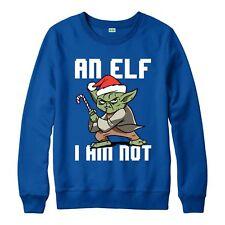 Star Wars Christmas Jumper, Santa Elf Yoda Festive Gift Adults & Kids Jumper Top