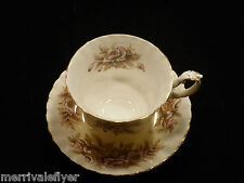 Antique Royal Albert Tea Cup & Saucer MELODY Series SONATA FIRST MARK Bone China