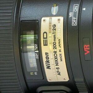 Nikon NIKKOR 200mm f 2 SWM AF-S VR IF G ED Lens