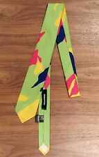 DSQUARED2 Techno Fabric NEON MULTI Dress Tie CRAVATTE Made in Italy RUNWAY