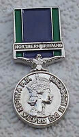 general service medal lapel badge northern ireland british army udr rir ruc GSM