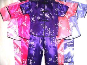 Childrens(GIRLS)Oriental Japanese Chinese Kimono Style Pyjama1-2 yrs to 13-14yrs