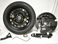 04-10 BMW E60 E61 17x4 Steel Spare Tire Wheel Donut W/ Jack & Tool Kit F5500