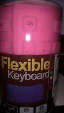 Portable USB 2.0 Mini Flexible Silicone Foldable Keyboard - Pink