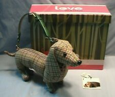 Fuzzy Couture Weiner Dog Purse Love On A Leash With Box Toy Dachshund Figurine