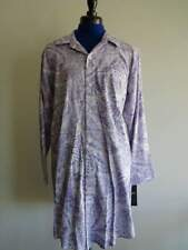 RALPH LAUREN LAVENDER Floral PAISLEY Cotton WOMENS MED NIGHT Gown SHIRT